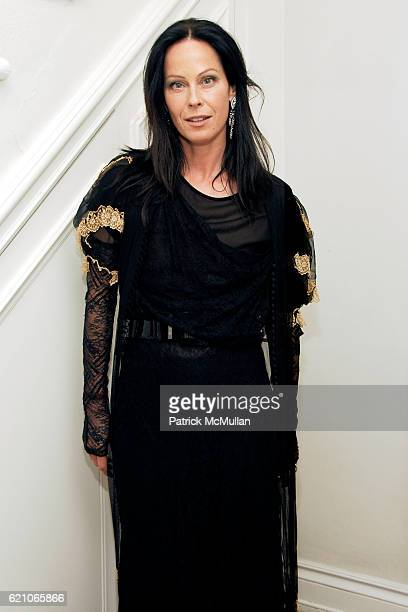 Lady Amanda Harlech attends CHANEL Private Dinner for KARL LAGERFELD at Casa Tua on May 14 2008 in Miami Beach FL