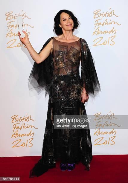 Lady Amanda Harlech with the award for Fashion Creator during the 2013 British Fashion Awards at The London Coliseum St Martin's Lane London
