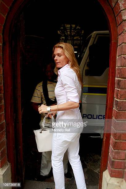 Lady Amelia Spencer arrives with her mother Lady Victoria Spencer at the Magistrates Court charged with common assault in connection with an incident...