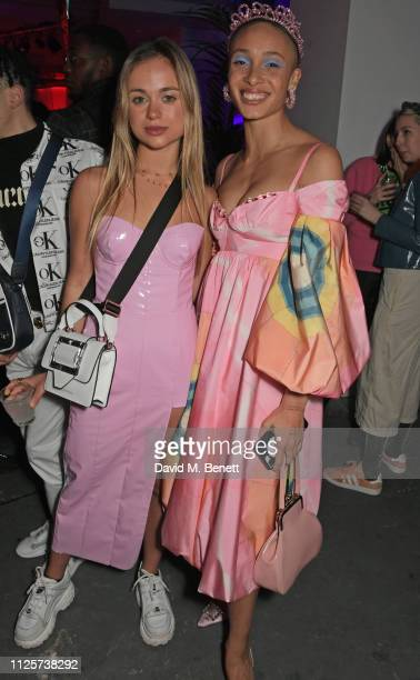 Lady Amelia Windsor and Adwoa Aboah attend the LOVE x The Store X party celebrating LOVE issue 21 supported by Perrier Jouet at The Store X on...