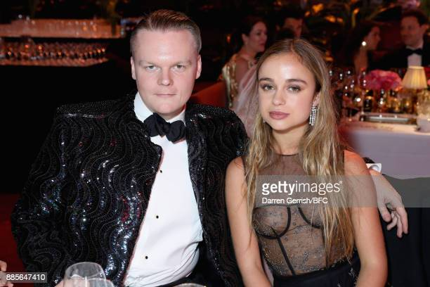Lady Amelia Windsor and Anders Christian Madsen attends The Fashion Awards 2017 in partnership with Swarovski at Royal Albert Hall on December 4 2017...