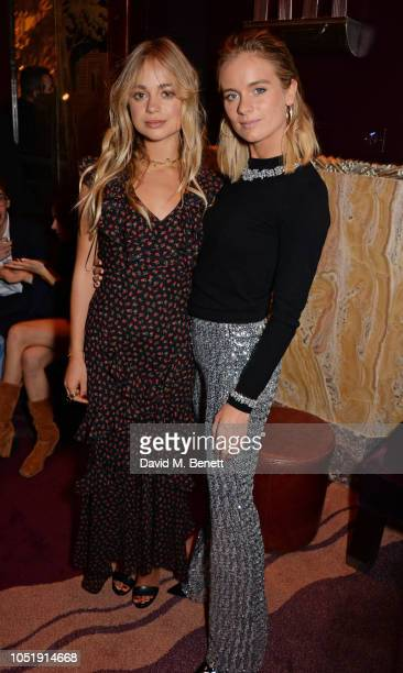 Lady Amelia Windsor and Cressida Bonas attend the Michael Kors cocktail party to celebrate the collaboration with David Downton at Claridge's Hotel...