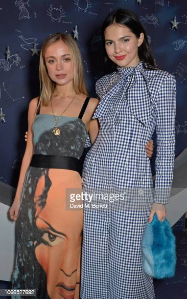 Lady Amelia Windsor and Doina Ciobanu attend the Claridge's Zodiac Party hosted by Diane von Furstenberg Edward Enninful to celebrate the Claridge's...