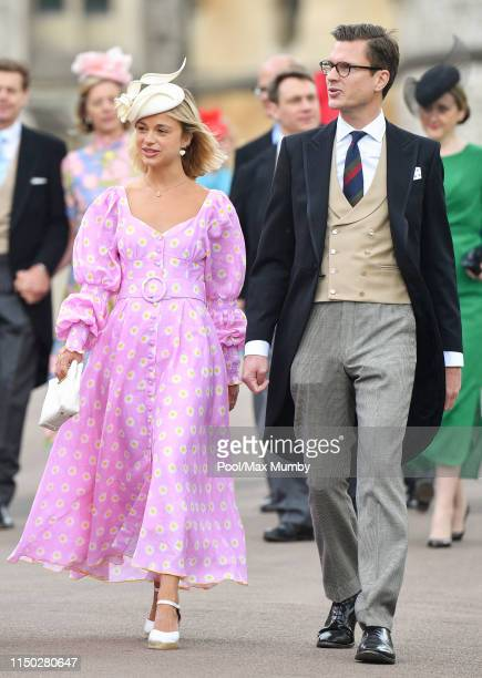 Lady Amelia Windsor and George Gilman attend the wedding of Lady Gabriella Windsor and Thomas Kingston at St George's Chapel on May 18 2019 in...