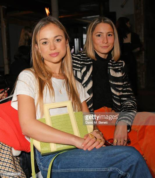 Lady Amelia Windsor and guest attend the REJINA PYO show during London Fashion Week February 2019 on February 18 2019 in London England