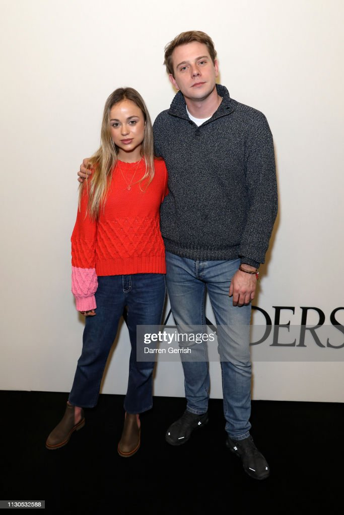 Lady Amelia Windsor and J W  Anderson attends the JW Anderson show
