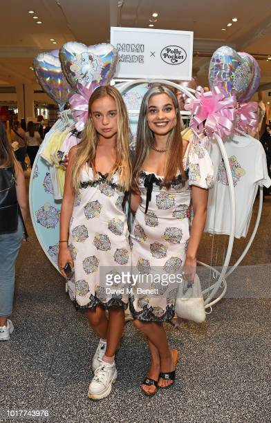 Lady Amelia Windsor and Mimi Wade attend the Polly Pocket x Mimi Wade launch at Selfridges on August 16 2018 in London England