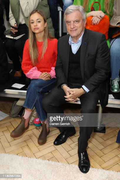 Lady Amelia Windsor and Sidney Toledano attend the JW Anderson show during London Fashion Week February 2019 at the Yeomanry House on February 18...