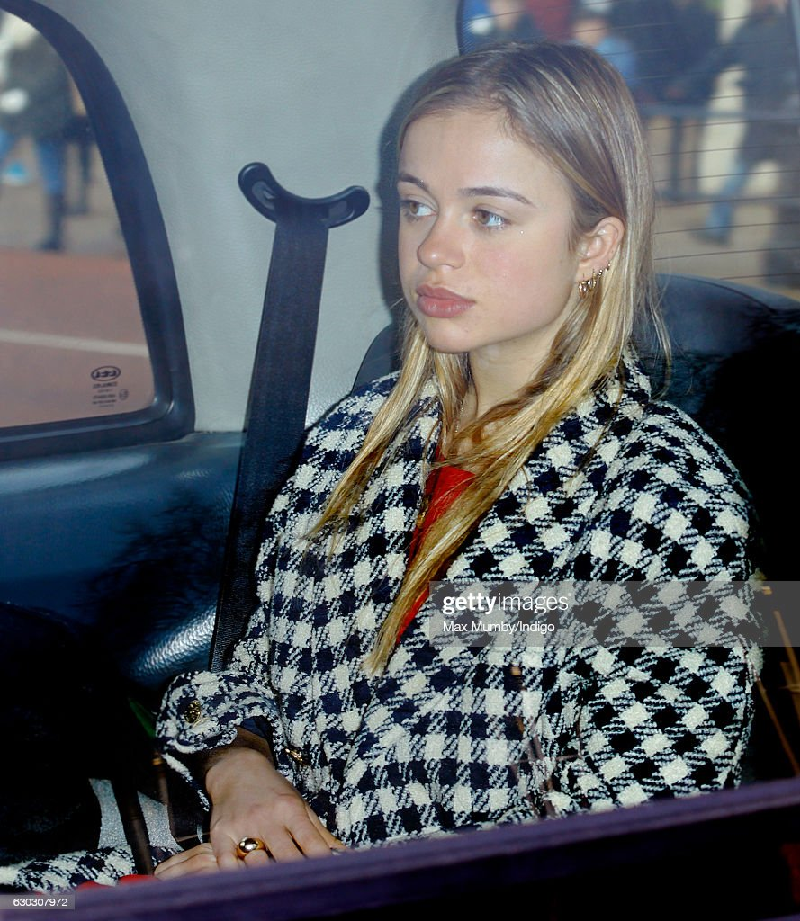 Lady Amelia Windsor attends a Christmas lunch for members of the Royal Family hosted by Queen Elizabeth II at Buckingham Palace on December 20, 2016 in London, England.