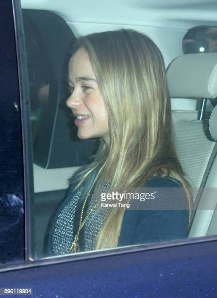 Lady Amelia Windsor attends a Christmas lunch for the extended Royal Family at Buckingham Palace on December 20 2017 in London England