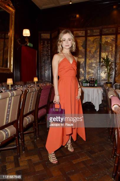 Lady Amelia Windsor attends Salvatore Ferragamo Dinner Party during Milan Fashion Week Autumn/Winter 2019/20 on February 23 2019 in Milan Italy