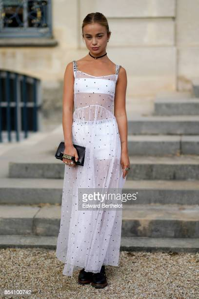 Lady Amelia Windsor attends the Christian Dior show as part of the Paris Fashion Week Womenswear Spring/Summer 2018 on September 26 2017 in Paris...
