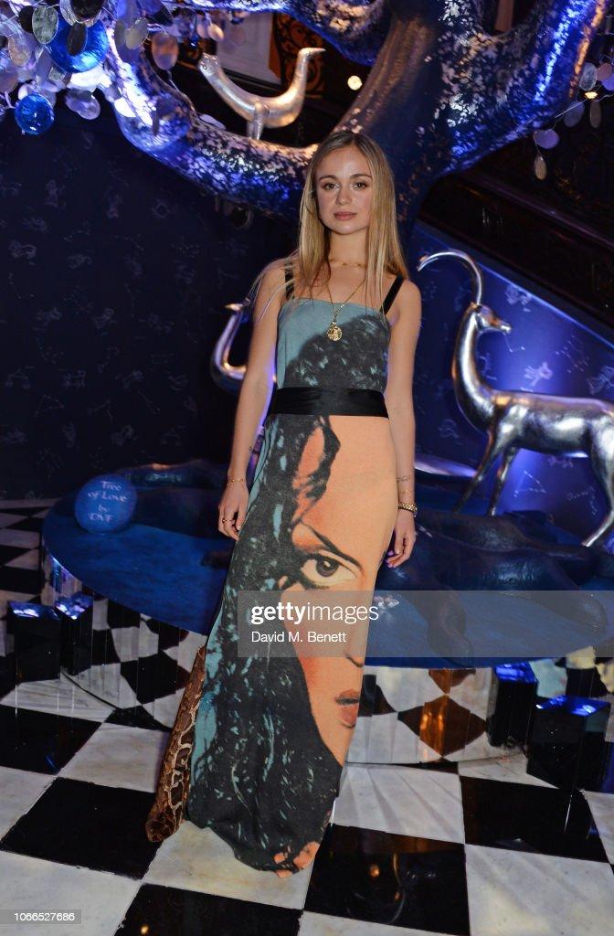 Claridge's Zodiac Party Hosted By Diane von Furstenberg & Edward Enninful To Celebrate The Claridge's Christmas Tree 2018 : Nachrichtenfoto