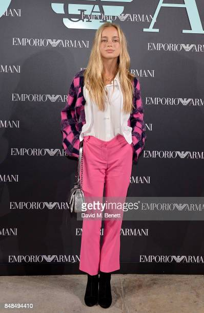 Lady Amelia Windsor attends the Emporio Armani Show on September 17 2017 in London England