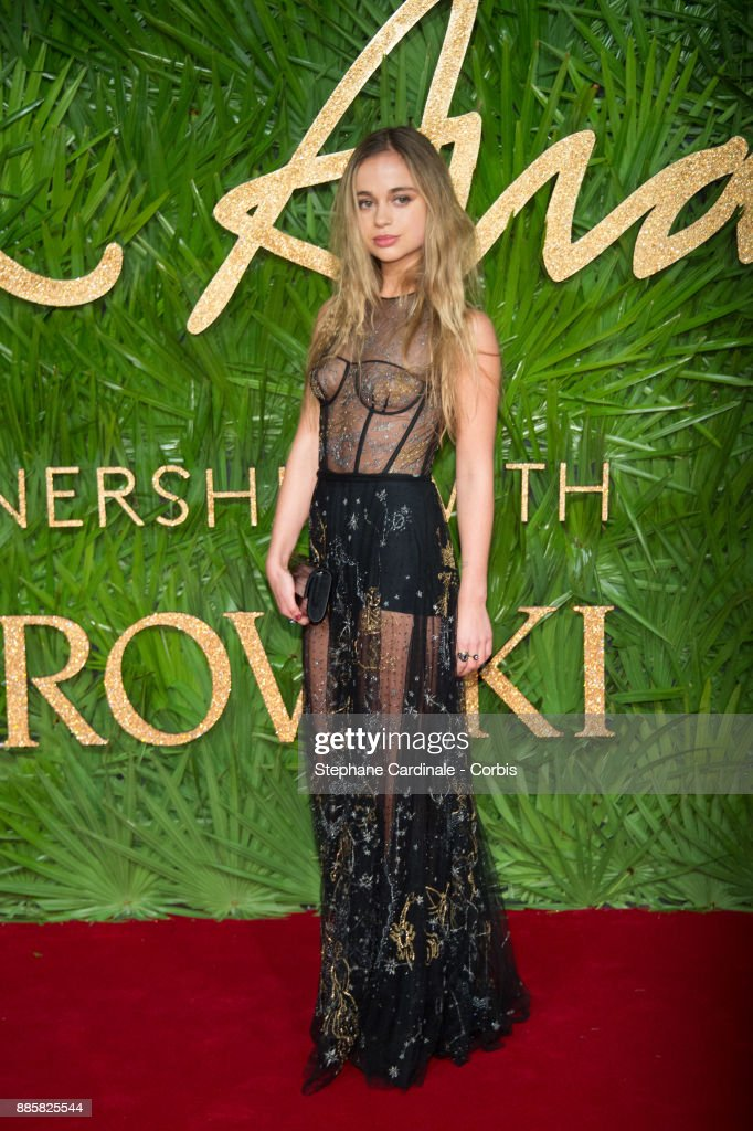 Lady Amelia Windsor attends the Fashion Awards 2017 In Partnership With Swarovski at Royal Albert Hall on December 4, 2017 in London, England.