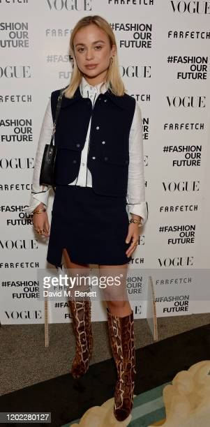 Lady Amelia Windsor attends the Fashion Our Future launch event at Claridge's Hotel on February 17 2020 in London England #FASHIONOURFUTURE is a...