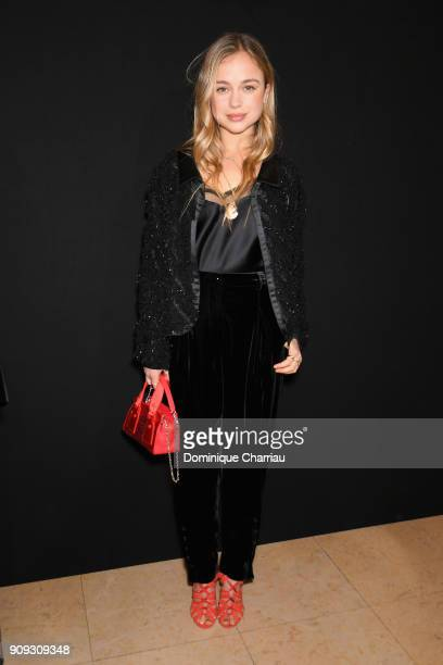 Lady Amelia Windsor attends the Giorgio Armani Prive Haute Couture Spring Summer 2018 show as part of Paris Fashion Week on January 23 2018 in Paris...