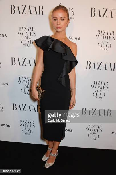 Lady Amelia Windsor attends the Harper's Bazaar Women Of The Year Awards 2018 in partnership with Michael Kors and MercedesBenz at Claridge's Hotel...