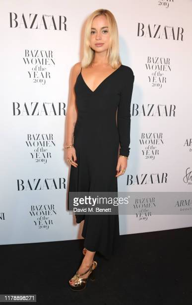 Lady Amelia Windsor attends the Harper's Bazaar Women of the Year Awards 2019, in partnership with Armani Beauty, at Claridge's Hotel on October 29,...