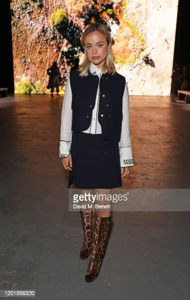 Lady Amelia Windsor attends the International Woolmark Prize 19/20 Final during London Fashion Week February 2020 at Ambika P3 on February 17 2020 in...