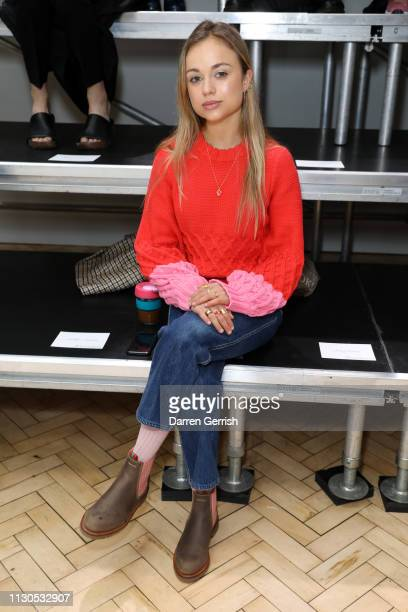 Lady Amelia Windsor attends the JW Anderson show during London Fashion Week February 2019 at the Yeomanry House on February 18 2019 in London England