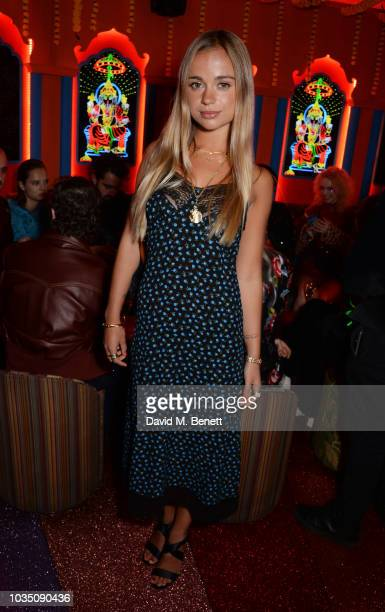 Lady Amelia Windsor attends the LOVE Magazine 10th birthday party with PerrierJouet at Loulou's on September 17 2018 in London England