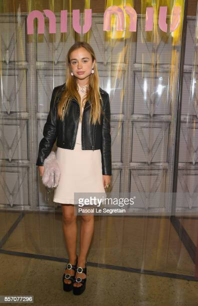 Lady Amelia Windsor attends the Miu Miu show as part of the Paris Fashion Week Womenswear Spring/Summer 2018 on October 3 2017 in Paris France
