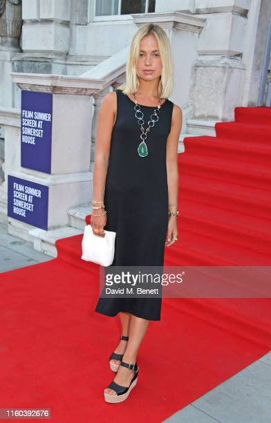 Lady Amelia Windsor attends the opening night of Film4 Summer Screen at Somerset House featuring the UK Premiere of Pain And Glory on August 8 2019...