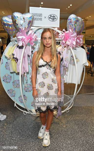 Lady Amelia Windsor attends the Polly Pocket x Mimi Wade launch at Selfridges on August 16 2018 in London England