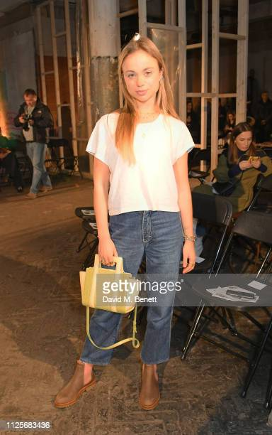 Lady Amelia Windsor attends the REJINA PYO show during London Fashion Week February 2019 on February 18 2019 in London England