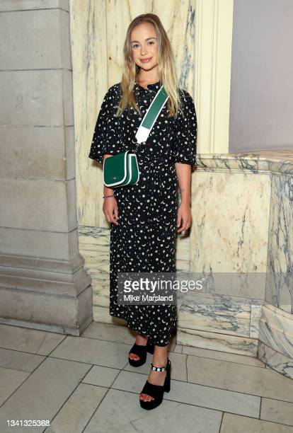 Lady Amelia Windsor attends the Richard Malone show during London Fashion Week September 2021 on September 19, 2021 in London, England.