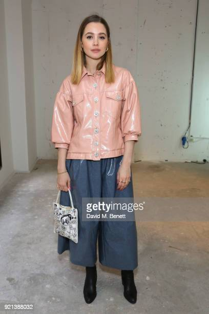 Lady Amelia Windsor attends the Shrimps presentation during London Fashion Week February 2018 at TopShop Show Space on February 20 2018 in London...