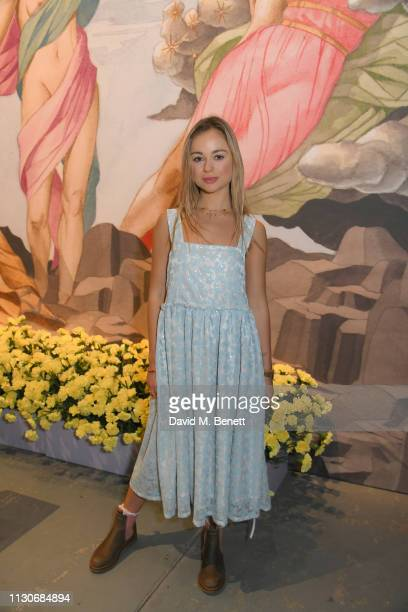 Lady Amelia Windsor attends the Shrimps show during London Fashion Week February 2019 at Ambika P3 on February 19 2019 in London England