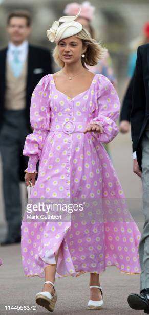 Lady Amelia Windsor attends the wedding of Lady Gabriella Windsor and Mr Thomas Kingston at St George's Chapel Windsor Castle on May 18 2019 in...