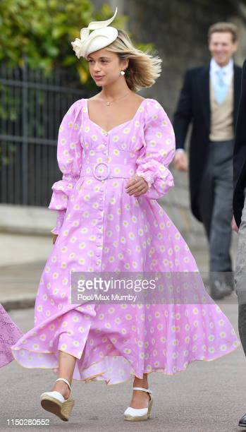 Lady Amelia Windsor attends the wedding of Lady Gabriella Windsor and Thomas Kingston at St George's Chapel on May 18 2019 in Windsor England