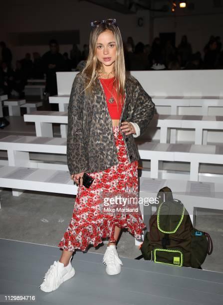 Lady Amelia Windsor during London Fashion Week February 2019 on February 15 2019 in London England