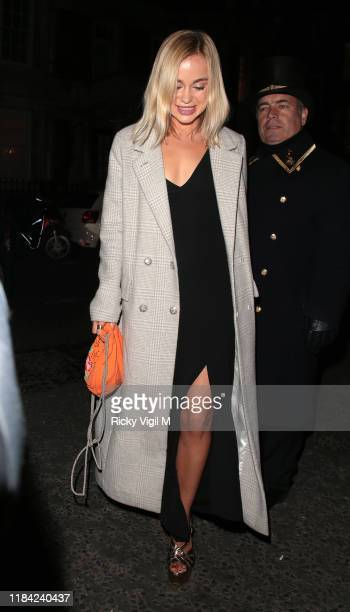 Lady Amelia Windsor seen attending Harper's Bazaar Women of the Year Awards at Claridge's on October 29 2019 in London England