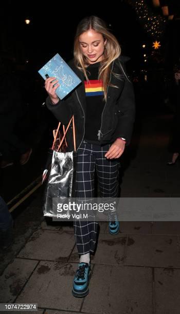 Lady Amelia Windsor seen attending the Claridge's Zodiac Party hosted by Diane von Furstenberg Edward Enninful to celebrate the Claridge's Christmas...