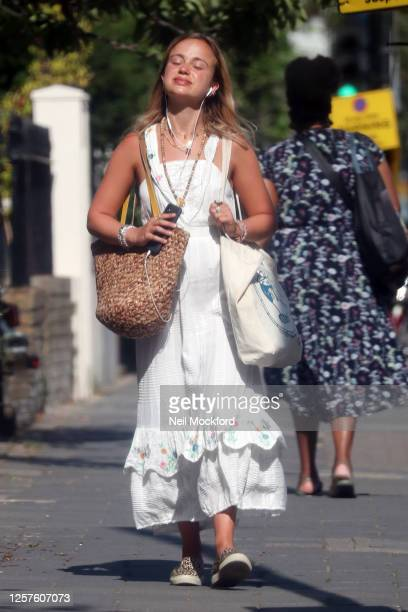 Lady Amelia Windsor seen shopping in Westbourne Grove Notting Hill on July 22 2020 in London England