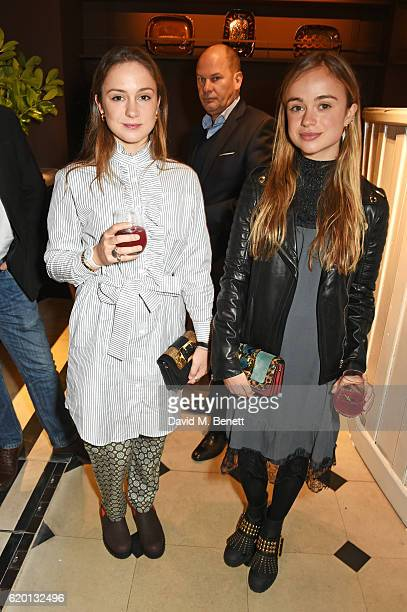 Lady Amelia Windsor wearing Burberry and guest attend an event to celebrate 'The Tale of Thomas Burberry' at Burberry's all day cafe Thomas's on...
