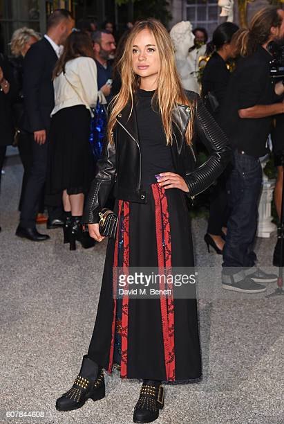 Lady Amelia Windsor wearing Burberry at the Burberry September 2016 show during London Fashion Week SS17 at Makers House on September 19 2016 in...