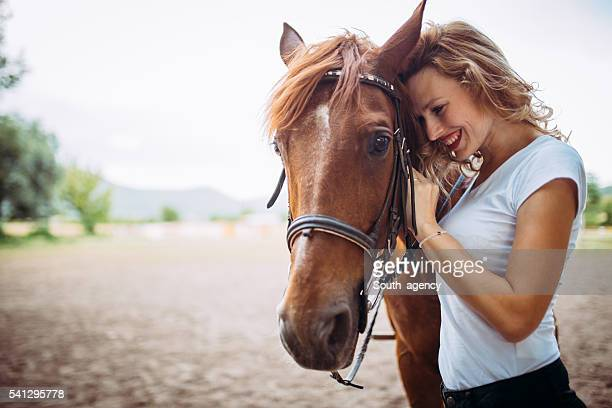 Lady and horse