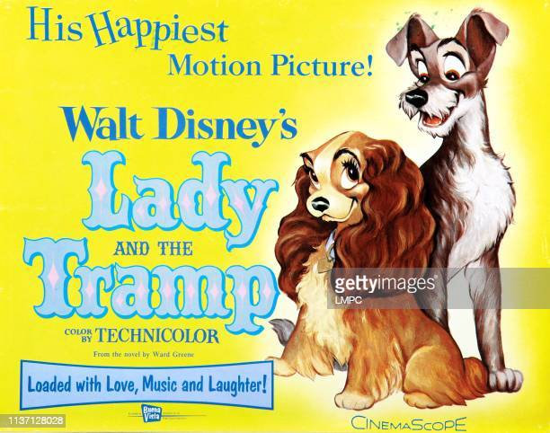 Lady And The Tramp, poster, l-r: Lady, Tramp on poster art, 1955.