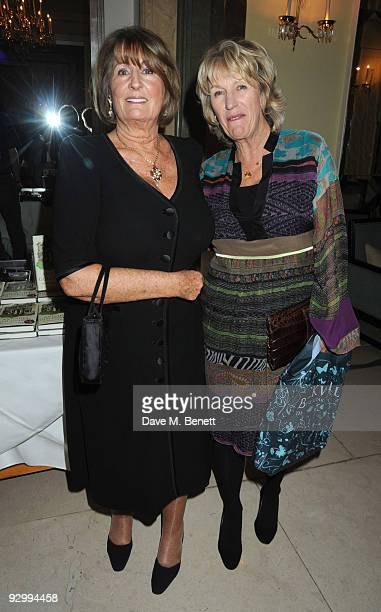Lady Annabel Goldsmith and Annabel Elliot attend the book launch party for Lady Annabel Goldsmith's new book No Invitation Required at Claridge's on...