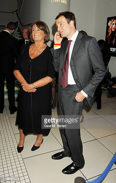 Lady Annabel Goldsmith and Ben Goldsmith attend the European Premiere of Fire in Babylon at Odeon Leicester Square on May 9 2011 in London England