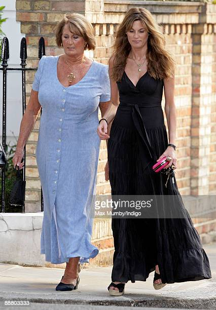 Lady Annabel Goldsmith and daughter Jemima Khan attend Sir David Frost's Summer garden party on July 2 2009 in London England