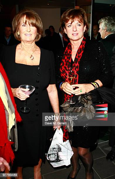Lady Annabel Goldsmith and Rosa Monckton attend the book launch party for Nicky Haslam's autobiography 'Redeeming Features' at Aqua on November 5...