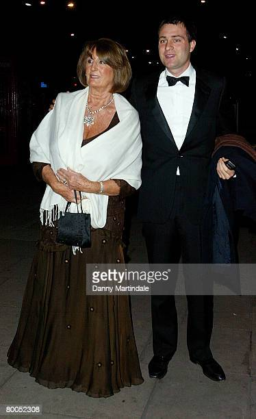 Lady Annabel Goldsmith arrives at the British Association Of Adoption and Fostering Fundraising Gala at the Park Lane Hotel on February 28 2008 in...