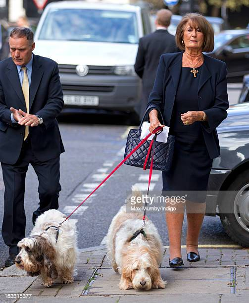 Lady Annabel Goldsmith attends a memorial service for her brother Alistair VaneTempestStewart 9th Marquess of Londonderry at St Paul's Church...