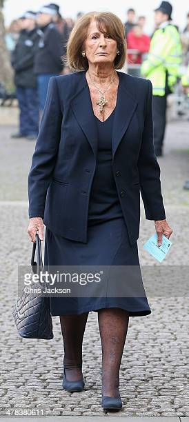 Lady Annabel Goldsmith attends a memorial service for Sir David Frost at Westminster Abbey on March 13 2014 in London England
